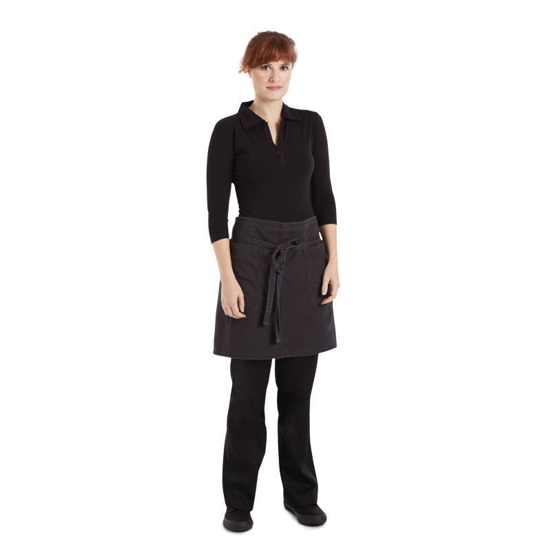 Delantal corto color gris oscuro unisex Chef Works Rockford BB029