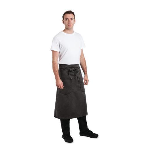 Delantal largo color gris envejecido unisex Chef Works Dorset BB041