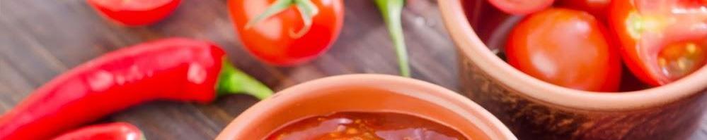 Magra con tomate y pimientos