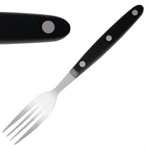 Juego de 12 tenedores chuleteros de mango negro Olympia C135