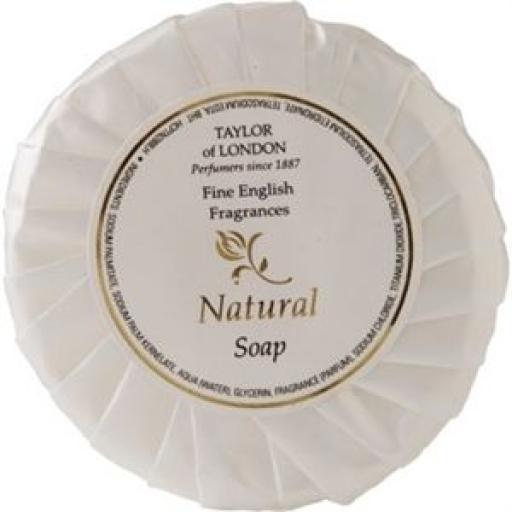 Amenities: Pastilla de jabón Natural 25gr. (Caja de 100) CB561