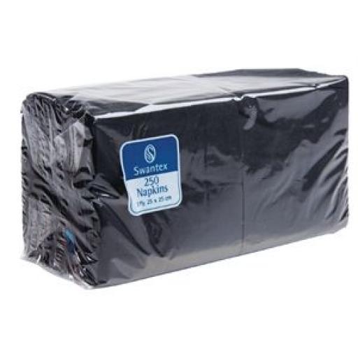 Servilleta de Bar 2 capas negra 250mm. doblada 1/4 Katrin (Caja de 2.000) CB666 [1]