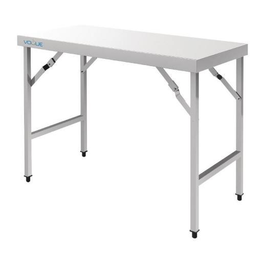 mesa plegable de acero inoxidable