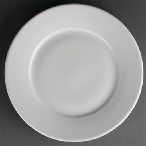 Juego de 12 platos llanos de borde ancho Athena
