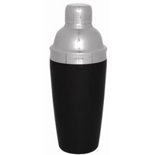 Coctelera Deluxe 0,7Ltr. negra agarre PVC CD272