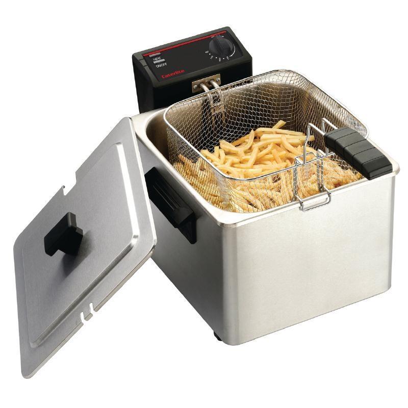 Freidora eléctrica de sobremesa 8L. Caterlite CD274
