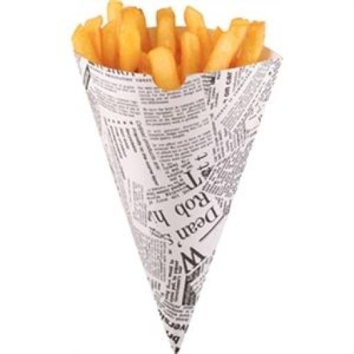 Cucurucho de papel biodegradable para patatas (Caja de 1000) CE230