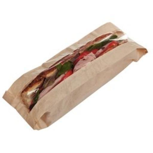 Bolsas de papel biodegradable para baguette (Caja de 1.000) CE249