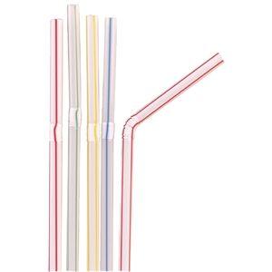 Canutillos flexibles rayados Kristallon (Caja de 250) CE310