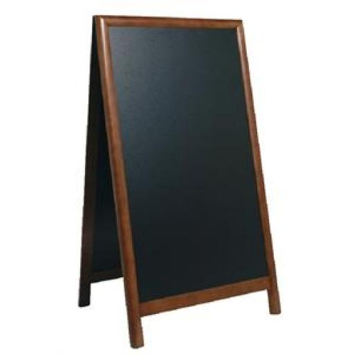 Pizarra doble en A con borde de madera oscura Securit 1000x570mm. CE431 [1]
