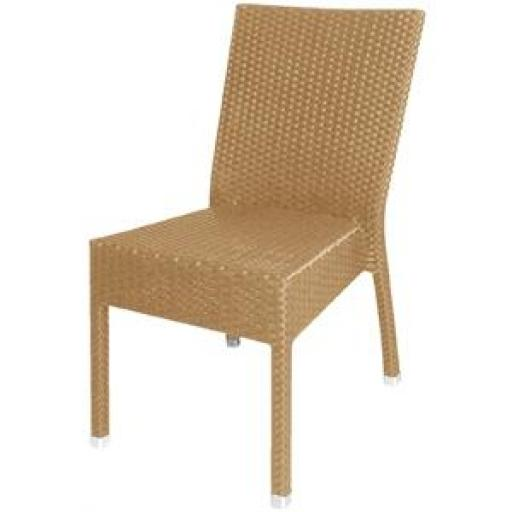 Juego de 4 sillas símil ratan color natural apilables Bolero CF158 [1]