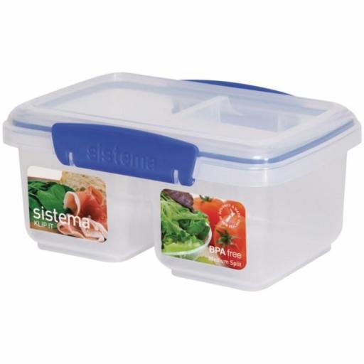 Contenedor de almacenaje de alimentos doble 1L. Sistema Klip it CF171