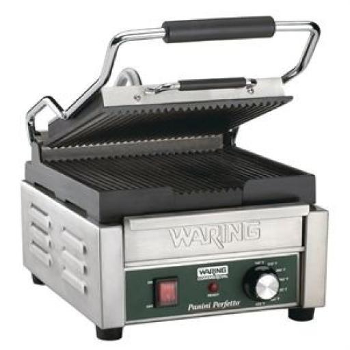 Grill de contacto individual estriado Waring WPG150K .CF230
