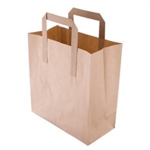 Bolsas de papel reciclado marrón pequeñas (Caja de 500) CF590