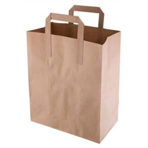 Bolsas de papel reciclado marrón (Caja de 250)  [1]