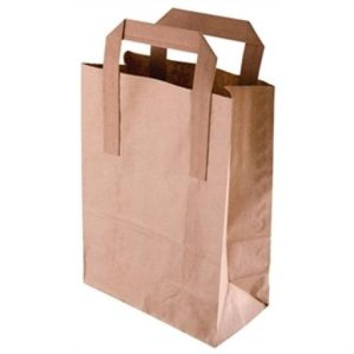 Bolsas de papel reciclado marrón (Caja de 250)  [2]