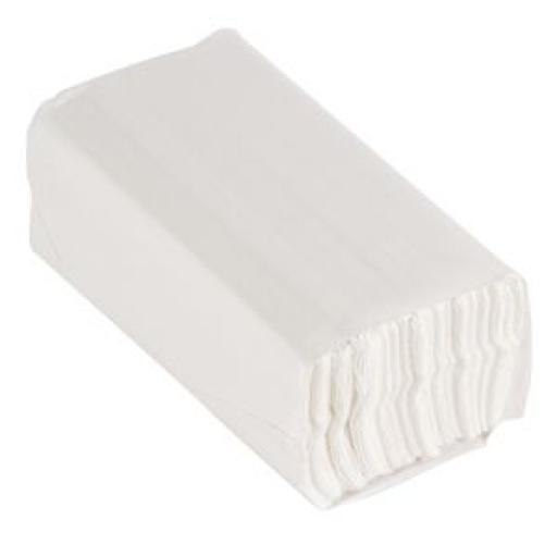 Toalla de manos plegada en C Jantex doble capa (2.400 toallitas) CF796