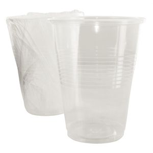 Caja de 500 vasos desechables envueltos 255ml. Hotel Complimentary CG767