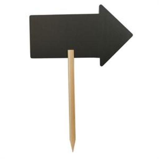 Pizarra flecha con poste Securit CK325