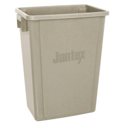 Cubo de basura beige de 56L. Jantex CK960