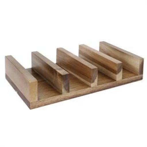 Soporte de madera para tacos y fajitas Olympia CK970