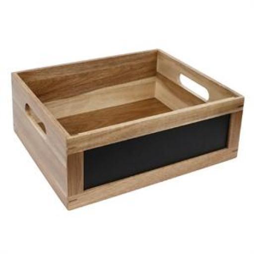 Bandeja Gastronorm 1/1 de madera y lateral de pizarra Olympia CL190 [1]
