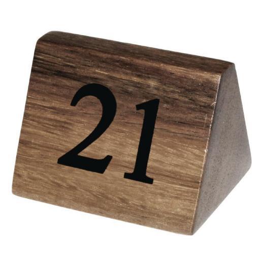 Juego de 10 números de madera para numerar mesas Olympia [2]