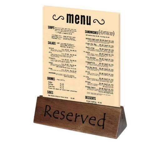 cartel reservado