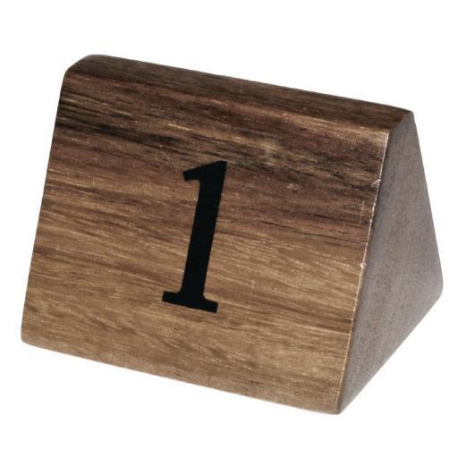 Juego de 10 números de madera para numerar mesas Olympia