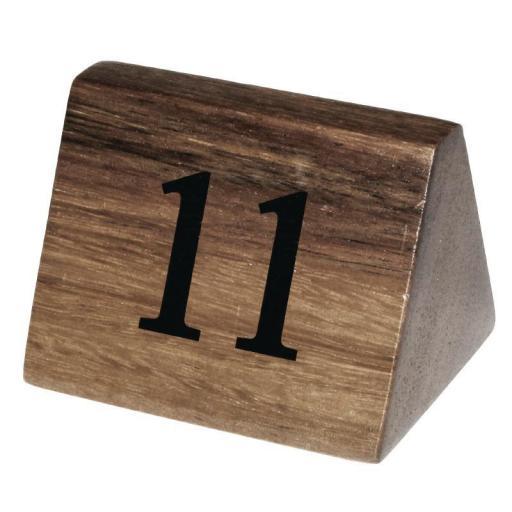 Juego de 10 números de madera para numerar mesas Olympia [1]
