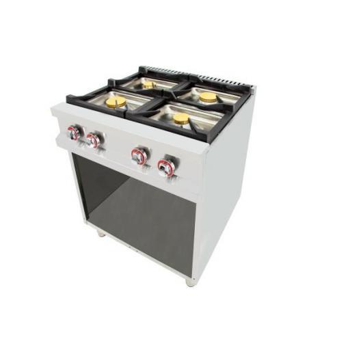 Cocina a gas de 4 fuegos y Fondo de 70cm Serie Easy Línea 700 80CG70