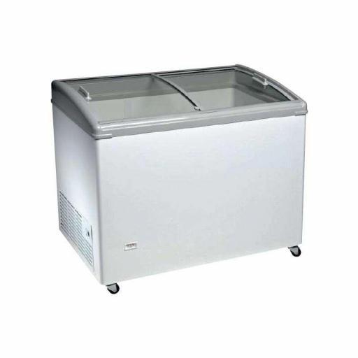 Arcón congelador de 2 puertas correderas de cristal curvo Línea Aveiro TCHC400N