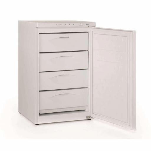 Congelador vertical de puerta ciega con 4 cajones 84L Aveiro CNG130