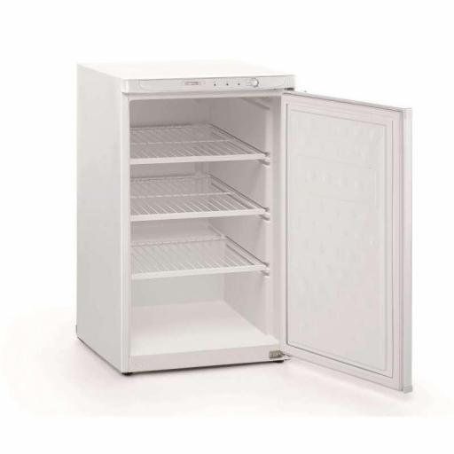 Congelador vertical de puerta ciega con 3 estantes 84L Aveiro CN130