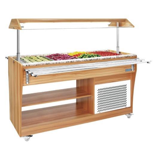 Mesa fría buffet para autoservicio Polar Serie G CR899