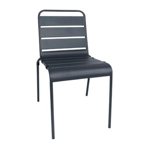Juego de 4 sillas de acero lacado apilables Bolero