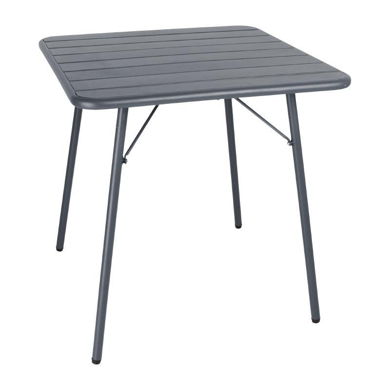 Mesa plegable de acero lacado 700x700mm Bolero