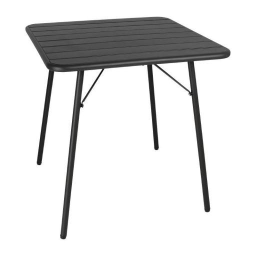 Mesa plegable de acero lacado 700x700mm Bolero [1]