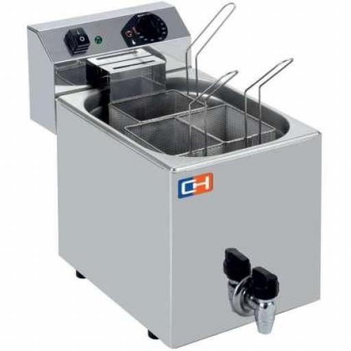 Cuecepastas eléctrico profesional de 7 litros y 3 cestas Línea Aveiro CP7L