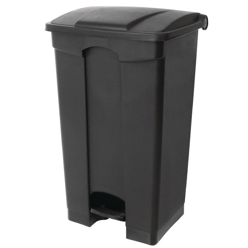Cubo de basura de polipropileno de pedal negro Jantex