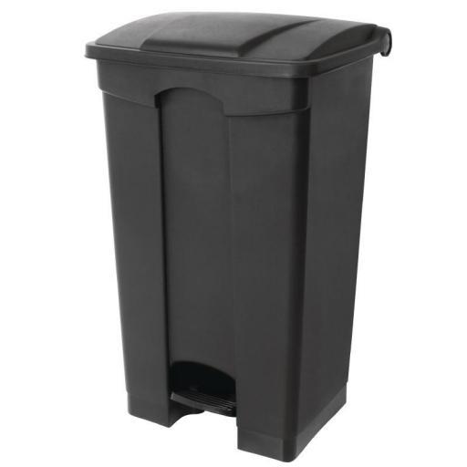 Cubo de basura de polipropileno de pedal negro Jantex [1]