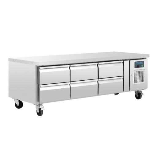 Mesa baja refrigerada Chef con 6 cajones Gastronorm 1/1 Polar DA465