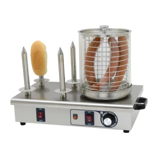 Máquina de perritos calientes de 4 pinchos Buffalo DA566