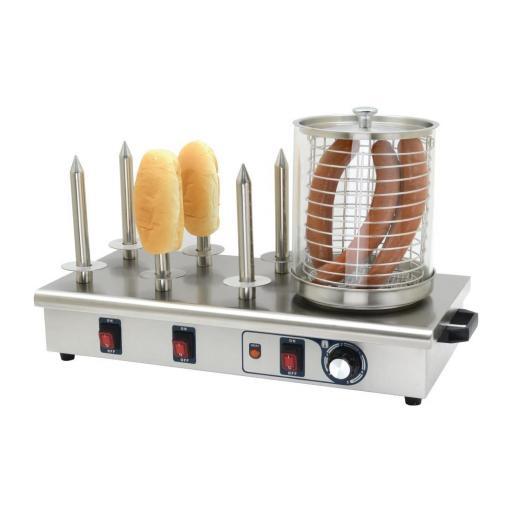 Máquina de perritos calientes de 6 pinchos Buffalo DA567