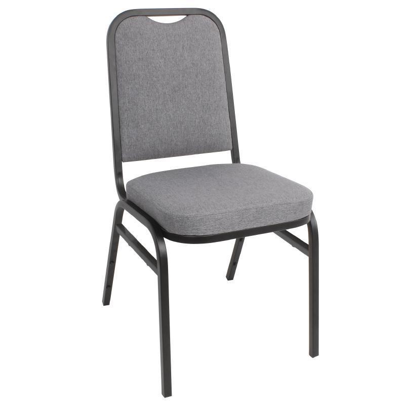 Juego de 4 sillas gris para banquete apilables Bolero DA602