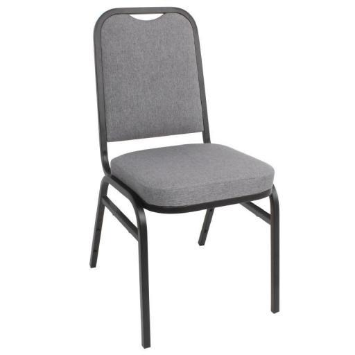 Juego de 4 sillas gris para banquete apilables Bolero DA602 [0]