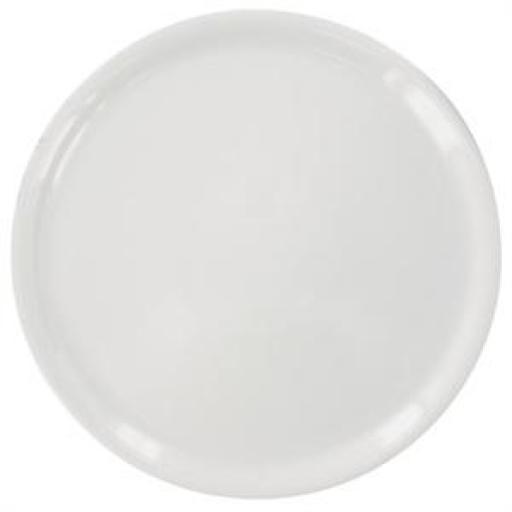 Juego de 6 platos de pizza de porcelana blancos Napoli 330(Ø)mm. DA989