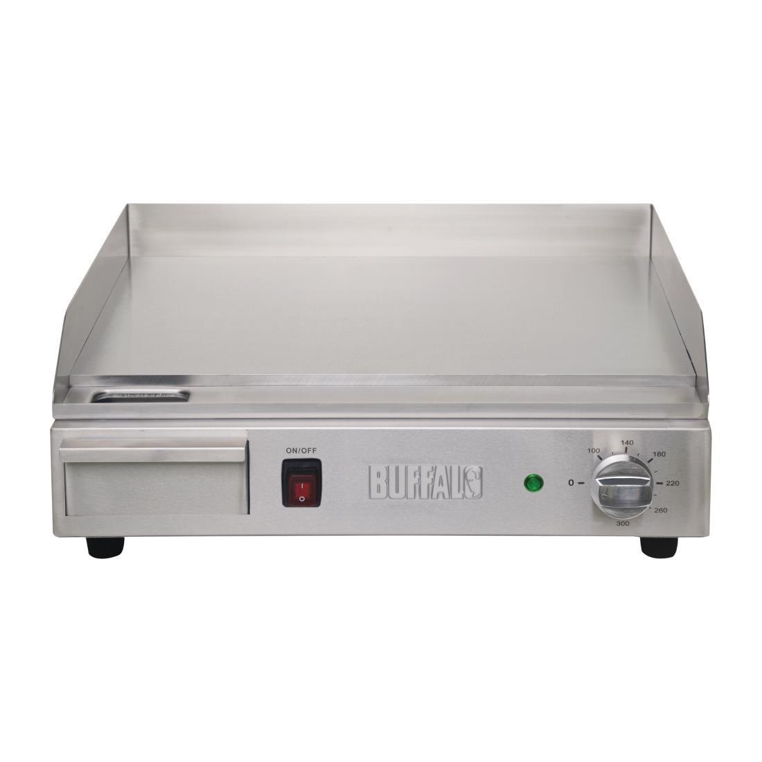 Plancha eléctrica de sobremesa 52x45cm profesional hostelería Buffalo DB193