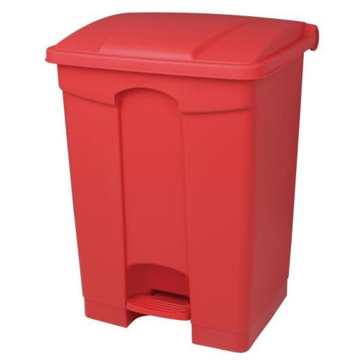 Cubo de basura de polipropileno de pedal rojo Jantex