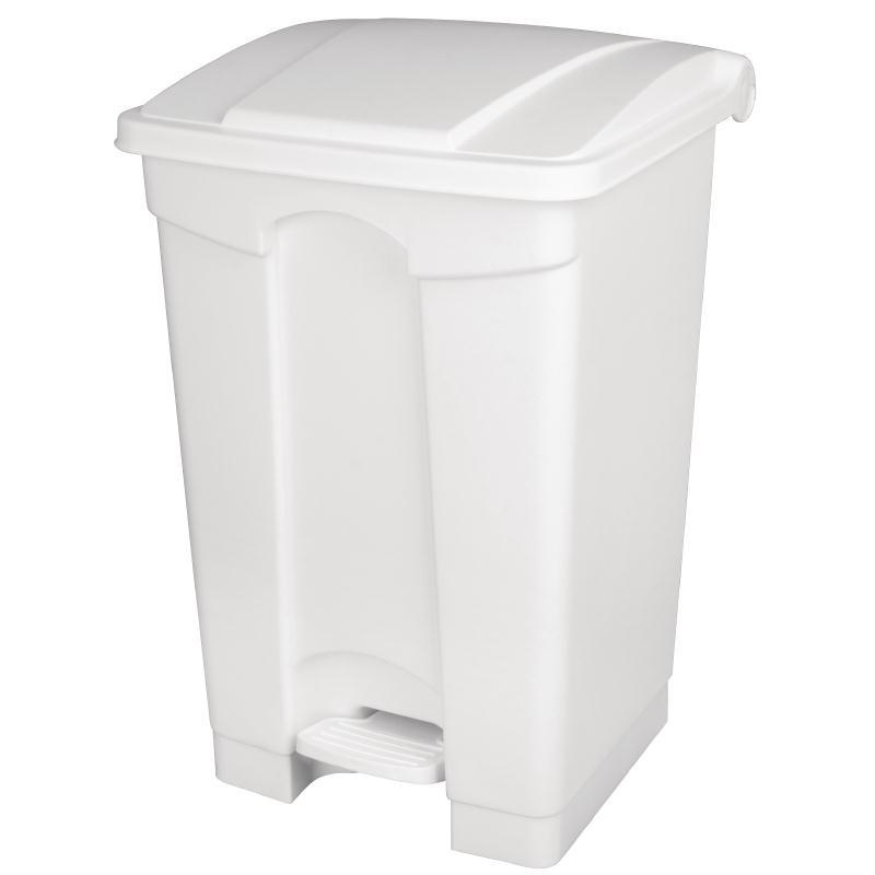 Cubo de basura de polipropileno de pedal blanco Jantex